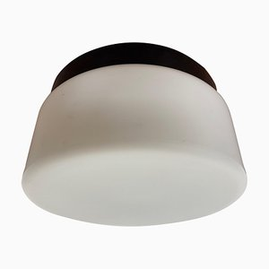 Mid-Century Bakelite Ceiling Flush Mount Lamps, 1970s, Set of 2