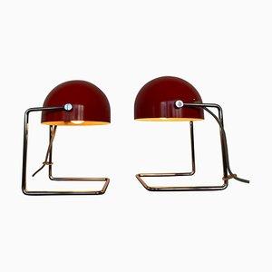 Lampade da tavolo modello 85104 di Josef Hurka per Napako, anni '60, set di 2