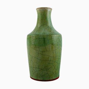Vase aus glasierter Keramik von Christian Poulsen, Dänemark, 1950er