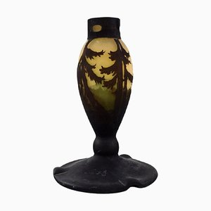 Lamp Base in Mouth Blown Art Glass by Muller Frères, France, 1920s