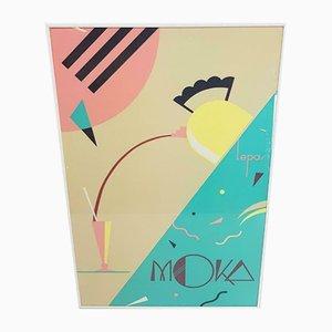 Vintage Pastellrahmen von Charles Lepas Moka, 1992