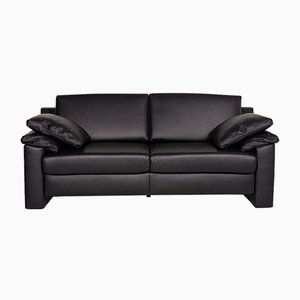 Black leather 2-Seat Sofa from Ewald Schillig