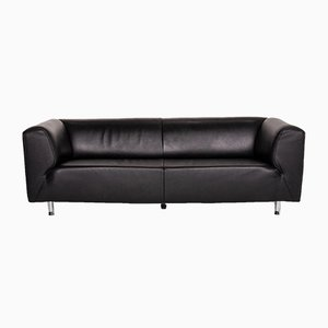 Black Leather 3-Seat Sofa from Willi Schillig