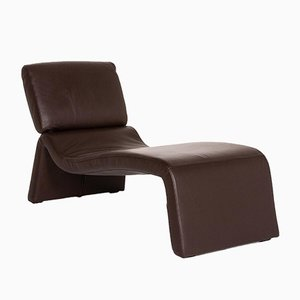 Dark Brown Leather Onda Lounge Chair from Cor