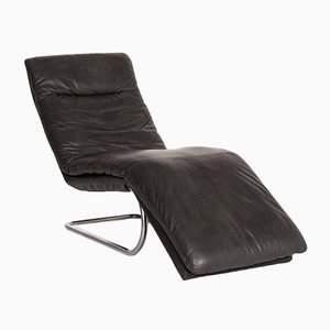Grey Leather Jill Lounge Chair from Willi Schillig