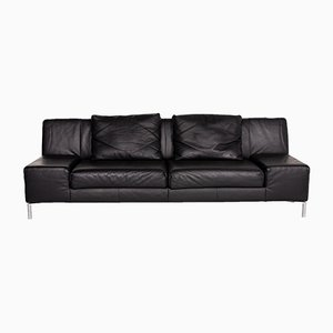 Black leather 3-Seat Sofa from BMP Rolf Benz