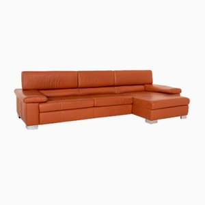 Cognac Leather Corner Sofas from Ewald Schillig, Set of 2