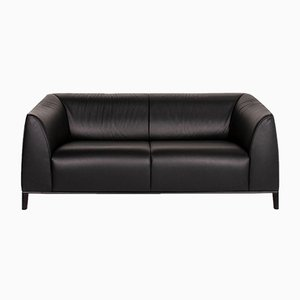 Black Leather DS 276 2-Seat Sofa from de Sede