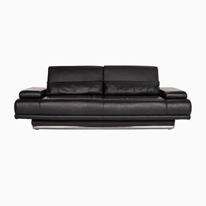 Anthracite Grey Leather 3-Seat Sofa from Willi Schillig