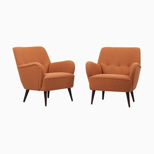Upholstered Lounge Chairs, Germany, 1950s, Set of 2