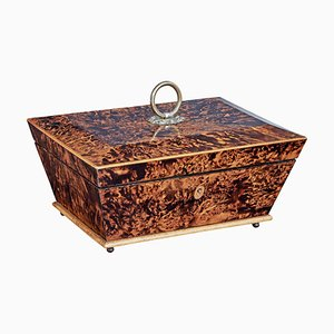 Mid-19th Century Swedish Karelian Birch Sarcophagus Form Box