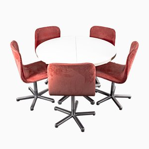Vintage Esstisch & Stühle im Stil von Cor, 1970er, 6er Set