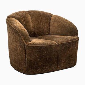 Velour Sessel von Walter Knoll, 1960er
