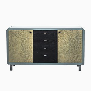 Sideboard in Turquoise Bird Maple Wood, 1980s
