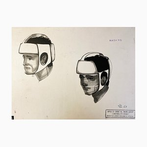 Helmet Project for the NASA by Raymond Loewy, 1969