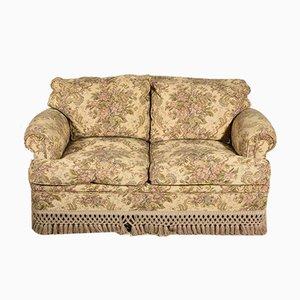 Italian 2-Seat Damask Sofa, 1980s