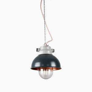 Vintage Anthracite Small Industrial Pendant Lamp from TEP