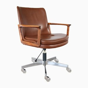 Mid-Century Swivel Chair by Ib Kofod Larsen