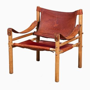 Mid-Century Sirocco Safari Stuhl von Arne Norell, 1960er