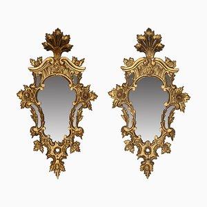 Spanische Cornucopia Spiegel, Spanien, 18. Jh., 2er Set