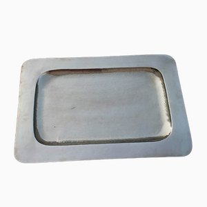 Solid Brass Hammered Tray, 1970s