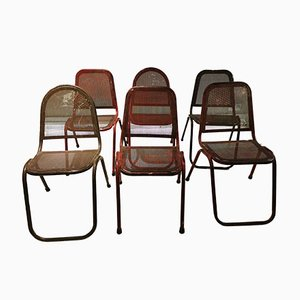 Industrial Chairs, 1950s, Set of 6
