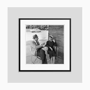 Hepburn & Holden Silver Gelatin Resin Print Framed in Black by Hulton Archive