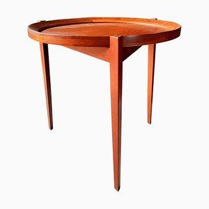Tavolino Mid-Century in teak con vassoio rimovibile, anni '60