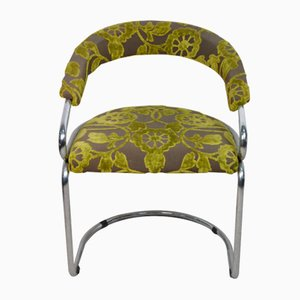 Italian Tricia Guild Series Fabric Chairs with Steel Frame, 1970s, Set of 2