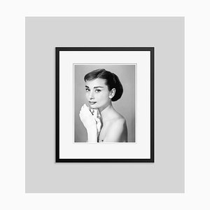 Audrey Hepburn in Givenchy Archival Pigment Print Framed in Black by Everett Collection
