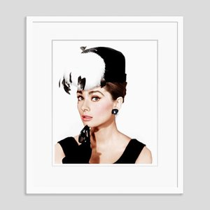 Audrey Hepburn Breakfast at Tiffany's Framed in White by Everett Collection