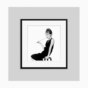 Hepburn at Tiffany's Archival Pigment Print Framed in Black by Everett Collection