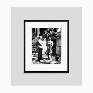 Blake Edwards & Audrey Hepburn Archival Pigment Print Framed in Black by Everett Collection