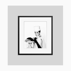 Audrey Hepburn Archival Pigment Print Framed in Black by Everett Collection
