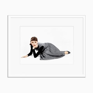 Audrey Hepburn in Sabrina Framed in White by Everett Collection