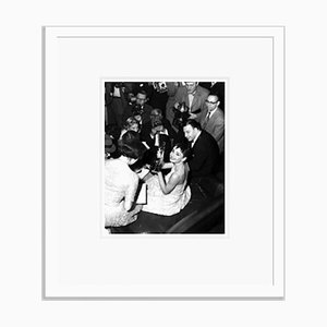 Audrey Hepburn Celebrates Winning an Academy Award Archival Pigment Print Framed in White by Everett Collection