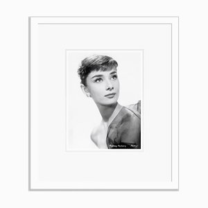 Audrey Hepburn Archival Pigment Print Framed in White by Bettmann