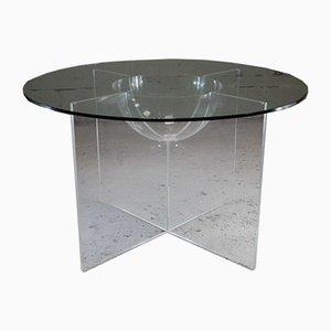 Tavolo da pranzo Aquarophile di Yonel Lebovici, anni '60