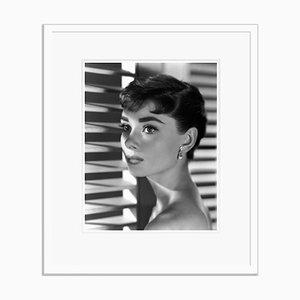 Audrey Hepburn Archival Pigment Print Framed in White