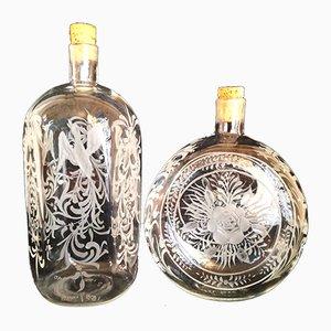 Flaschen aus Muranoglas, 1993, 2er Set