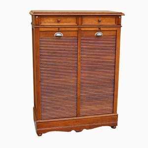 Antique Archive Shutter in Oak