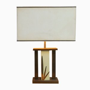 Belgian Art Deco Table Lamp with Leaf Detail, 1930s