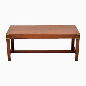 Military Campaign Mahogany & Brass Coffee Table, 1920s