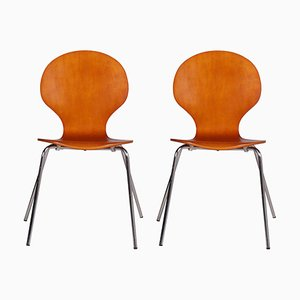 Dänische Mid-Century Farfalla Stühle aus Bugholz, Billund, 1960er, 2er Set