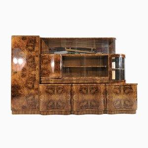 Walnut Art Deco Sideboard, 1940s