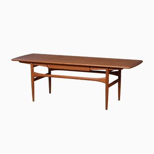 Mid-Century Danish Teak Coffee Table with Drawer, 1960s
