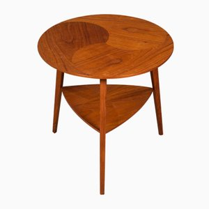 Mid-Century Danish Teak Round Side Table, 1960s