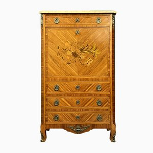 Louis XV Style Marquetry Wood Secretaire, 1930s