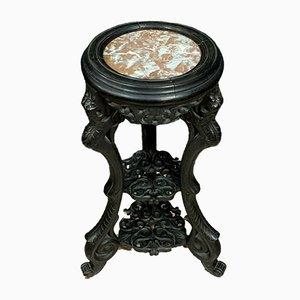 Japanese Napoleon III Black Wood Pedestal