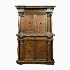 Renaissance Walnut Double Body Cabinet
